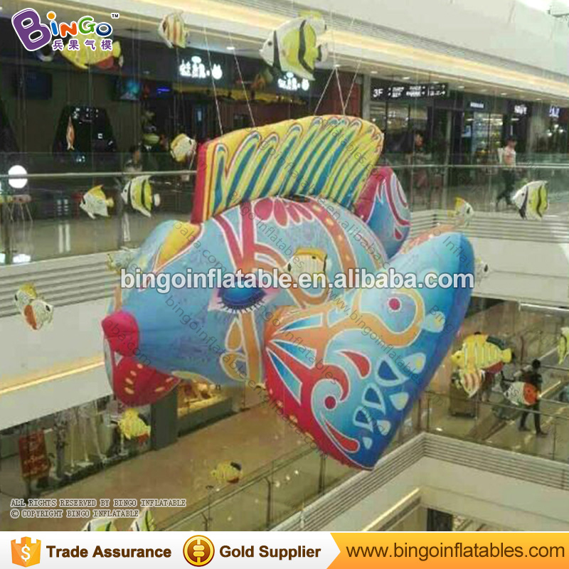9.8ft high giant inflatable fish / inflatable flying fish price / Expo type blow-up fish for hanging decoration toys free shipping 10m giant inflatable octopus model with digital printing for advertising blow up squid for decoration show toys
