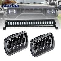 Marlaa 1pcs High Low Beam 25Inch 160W LED Light Bar + 2pcs 105W 7x6/7x5 LED Rectangle Headlights for Jeep Wrangler YJ 86 95