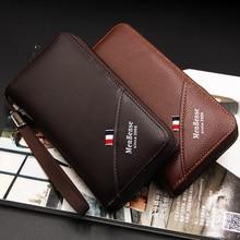 Luxury Clutch Men's Wallet Long Leather Wallets MenBense Fashion Business Zipper Purses Multifunction Card Holder Money Bag