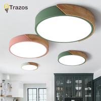 2018 TRAZOS   pendant     lights   Led modern for dinning room Wooden+Metal suspension hanging ceiling lamp home lighting for Kitchen