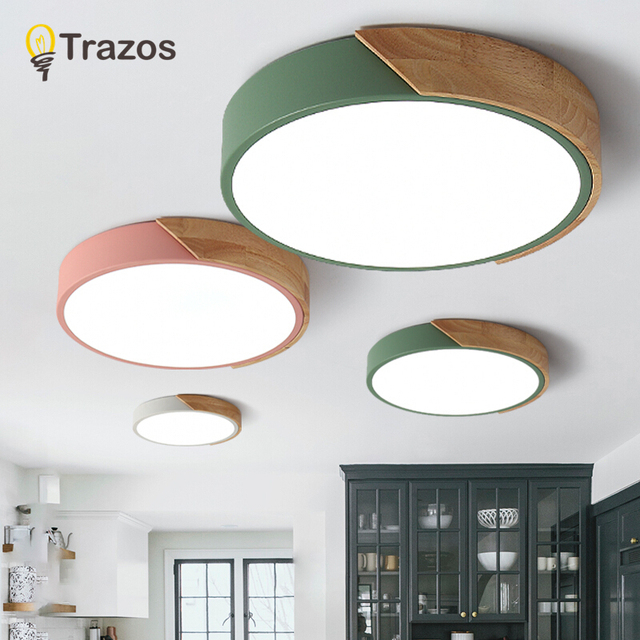 2018 TRAZOS pendant lights Led modern for dinning room Wooden+Metal suspension hanging ceiling lamp home lighting for Kitchen