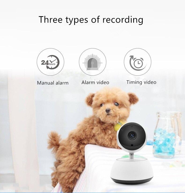 Caméra à domicile CHHD, système de Surveillance de sécurité intérieure IP 720 P Vision nocturne alarme manuelle pour la maison/bureau/bébé/nounou/moniteur pour animaux de compagnie