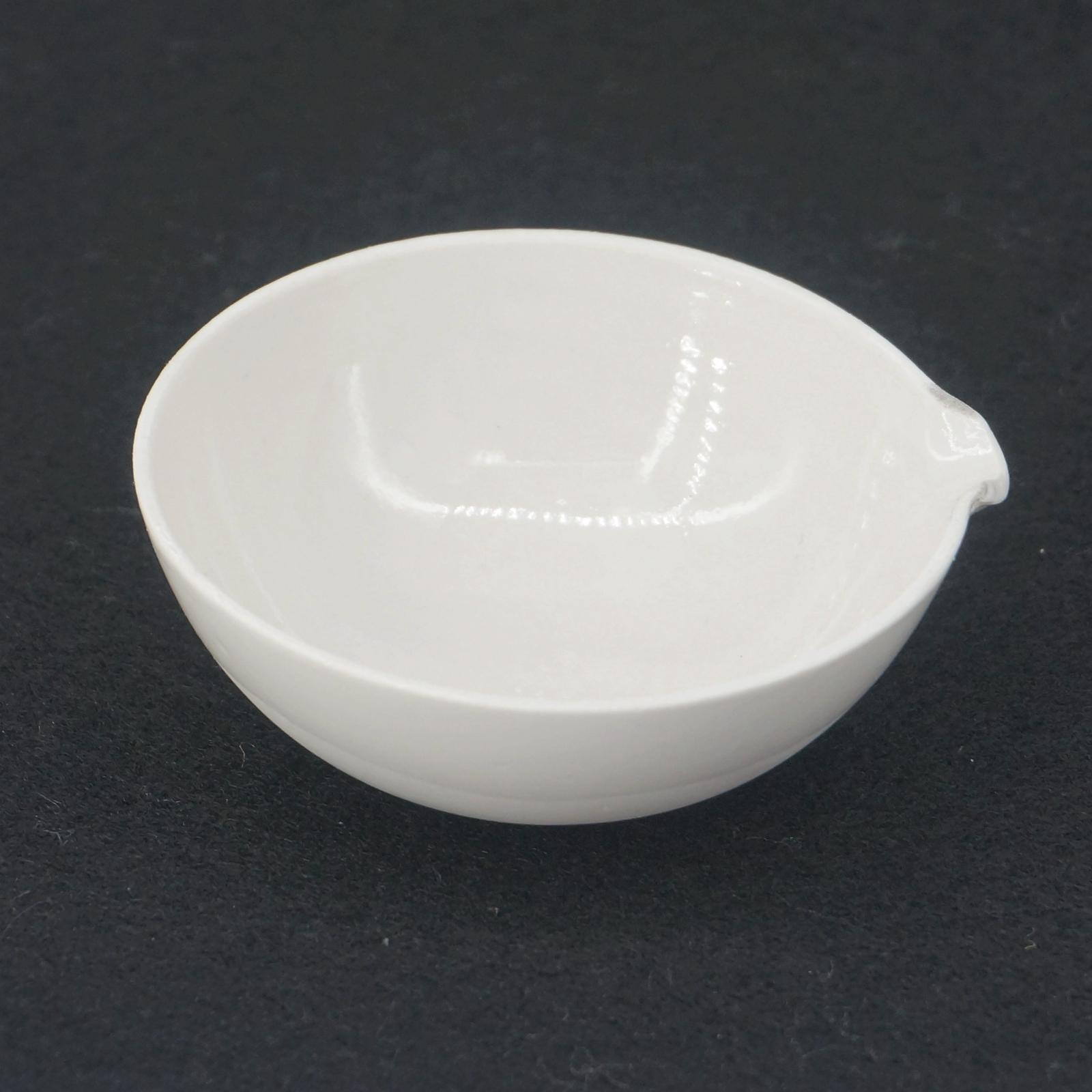 60ml Ceramic Evaporating dish Round bottom with spout For Chemistry ... for Evaporating Dish Laboratory Apparatus  56mzq
