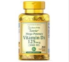Orgoglio Vitamina D3 5000 UI 200 capsule Supporta più sano e più giovane della pelle Supporta immunitario salute & muscolare e la salute delle ossa