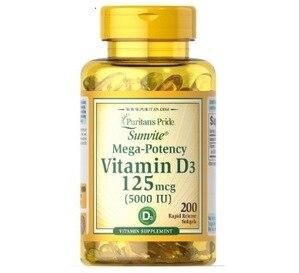 Image 1 - Pride Vitamine D3 5000 Ie 200 Softgels Ondersteunt Gezonder En Jonger Uitziende Huid Ondersteunt Immuunsysteem Gezondheid & Spier En bone Gezondheid