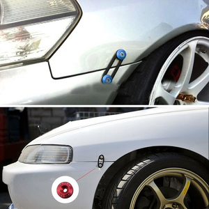 Image 5 - JDM Style Aluminum Bumper Quick Release Fasteners Fender Washers For Honda Civic Integra And Universal Car QRF002