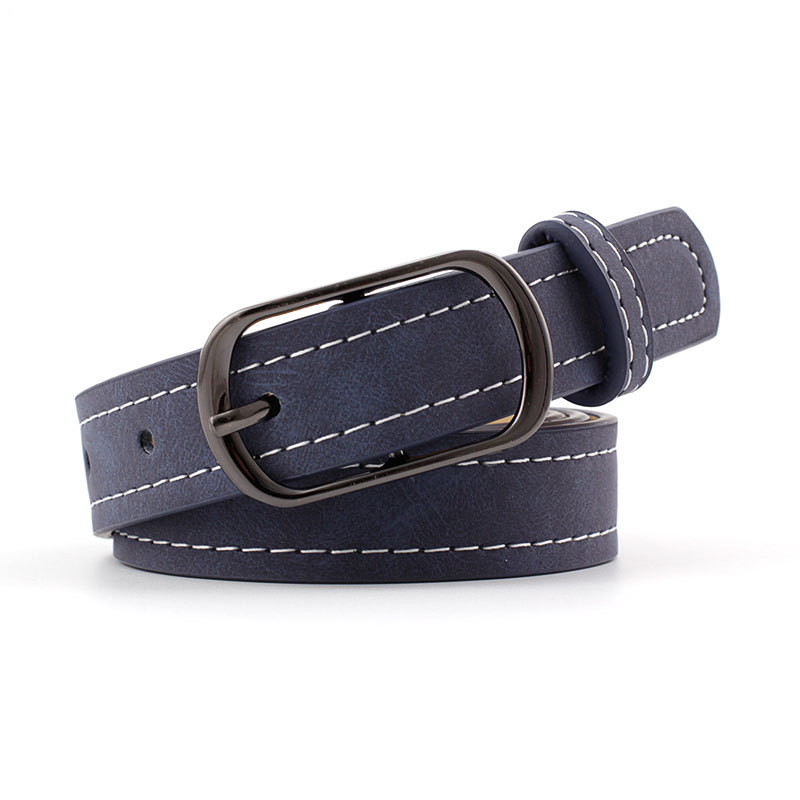 2019  New Designer Women's Black Brown Thin Leather Waistband Belt Riem Ladies Retro Vintage Pin Buckle Belts For Women Jeans
