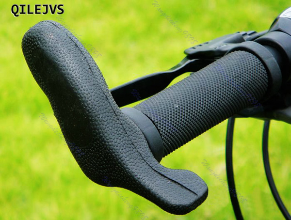 QILEJVS Brand New 1 Pair of Black Mountain Bicycle Bike Cycling Handlebar Hand Bar End