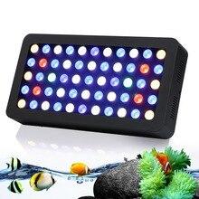 Лучшие Продажи!!! новейшие Затемнения 165 Вт Свет Аквариума высокое Качество объектива аквариум светодиодное освещение для Коралловых рифов Рыбы pet Tank