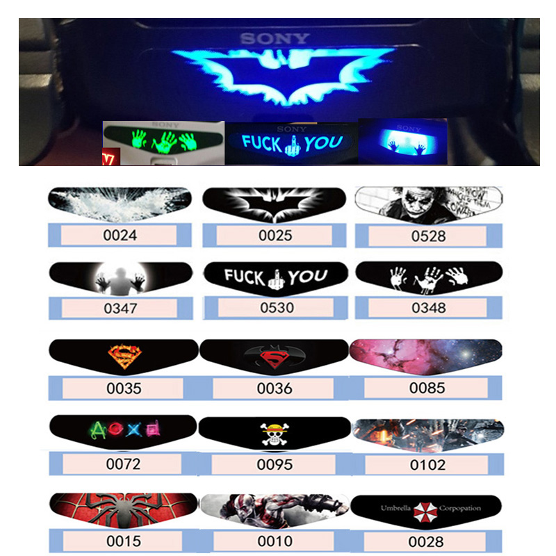 1 PCS Fashion LED Light Bar Stickers For Playstation 4 Led Light Decal PS4 Controller Gamepad Colorful Cover Skin(China)
