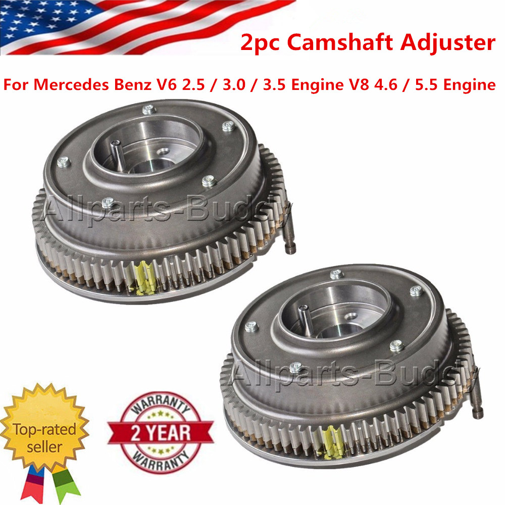 цена на 2PCS Exhaust Left & Right Camshaft Adjuster For Mercedes Benz R230 R171 W203 C230 C280 E350 2720500147 2720500347 2720504047