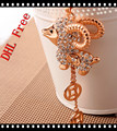 DHL Free 2015 Newest Arrival Fashion Necklaces For Women Crystal Long Chain Goat Animal Necklace Pendants Brand Luxury Jewelry