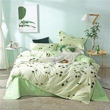 Лучший. WENSD Современная Освежающая серия пододеяльников для пуховых одеял, постельные принадлежности из полиэстера и хлопка с реактивной печатью, зеленый постельный мешок, один двойной