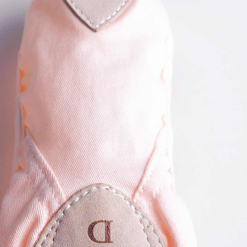פרה עור נעלי בלט בנות פיצול עור בלעדי פעוט ילדי בלט נעלי בית רך התעמלות ריקוד נעליים