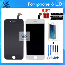Test  AAA Gread Quality NO Dead Pixel LCD Display For iPhone 6 Screen With Touch Digitizer Assembly Replacement Black and white