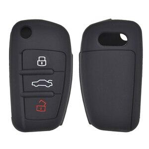 Image 3 - 3 кнопки силиконовый Автомобильный Брелок дистанционного управления с ключом чехол Чехол для Audi A1 S1 A3 S3 A4 A6 RS6 TT Q3 Q7 2005 2006 2007 2008 2009   2013