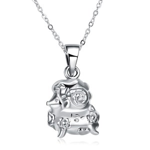 Classic jewelry Fashion Jewelry Silver Plated Pendant Necklace For Women Silver Jewellry Wholesale Bride Necklace