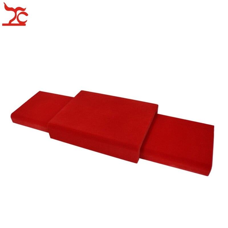 Бесплатная доставка Красный бархат нижней доске комплект Портативный деревянные украшения Дисплей пластина 88*30*7,5 см