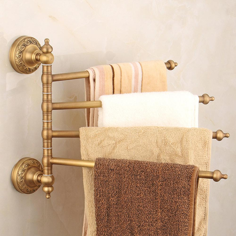 Lanlan Rotatable Copper Wall-Mounted Swivel Towel Rack Hanger Holder Organizer for Bars Toilet BathroomLanlan Rotatable Copper Wall-Mounted Swivel Towel Rack Hanger Holder Organizer for Bars Toilet Bathroom