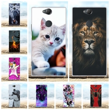 For Sony Xperia XA2 Plus Case Slim Soft TPU Silicone Cover Lion Patterned Capa