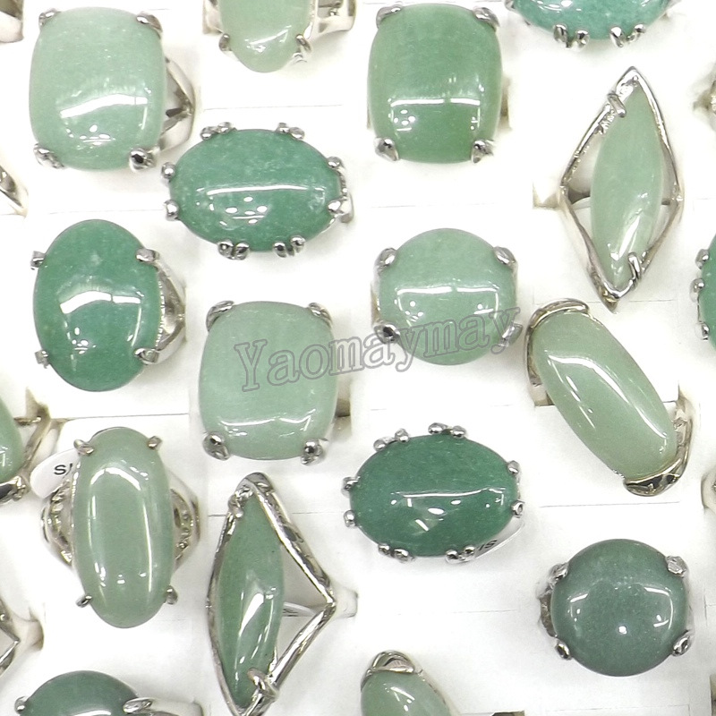 Delightful 50pcs/Lot Big Natural Light Green Stone Rings Semi Precious Stone Rings  Factory Price Free Shipping In Rings From Jewelry U0026 Accessories On  Aliexpress.com ... Ideas