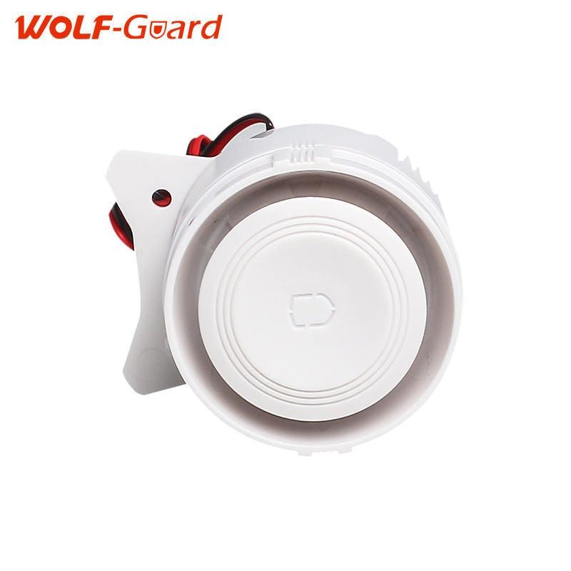 Blanc 120dB Filaire Intérieur Mini Sirène Filaire Pour Alarme Maison Sans Fil Système de Sécurité Mini Sirène Sonore Pour La Maison de Sécurité