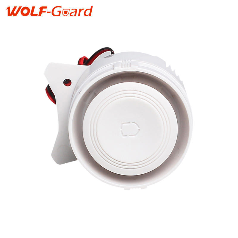 White 120dB Wired Indoor Mini Wired Siren For Wireless Home Alarm Security System Mini Siren Sound For Home Security