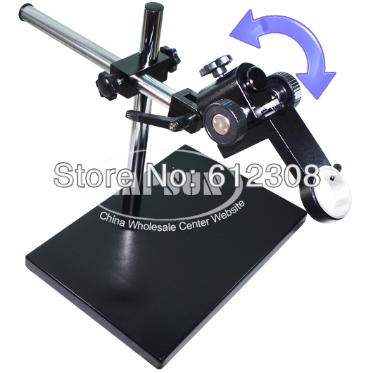 Big Size Large Dual arm Heavy Duty Boom Stereo Metal Table Stand 50mm Ring Holder For