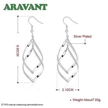2020 New Arrival 925 Silver Jewelry Women High Quality Long Earrings Hanging Drop Earring Jewelry 5