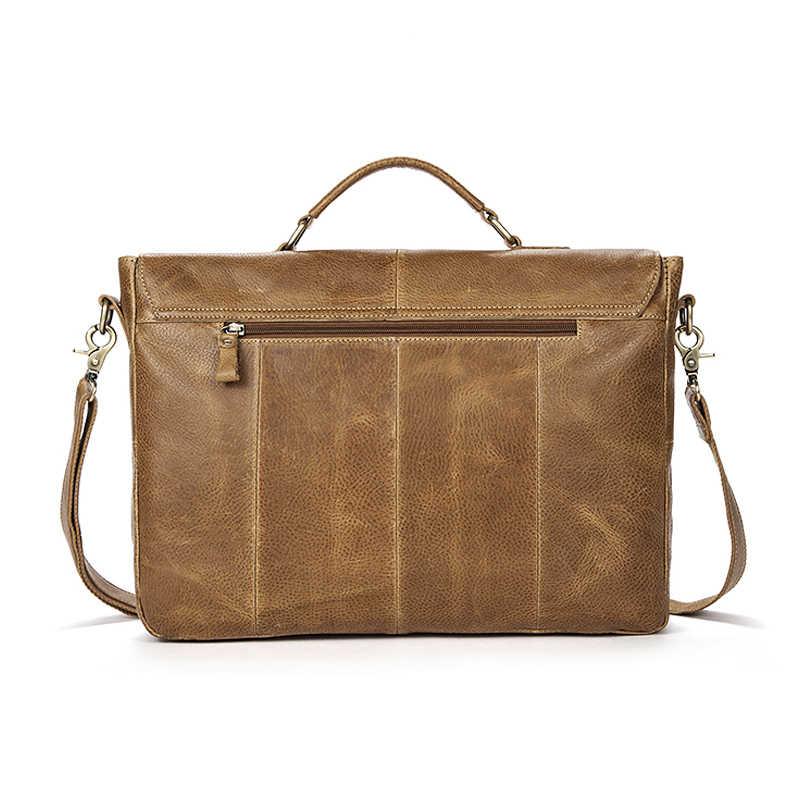 8fbafae621e8 ... WESTAL бизнес для мужчин мужские портфели из натуральной кожи кожаные  сумочки Сумка для мужчин Кожаная сумка ...