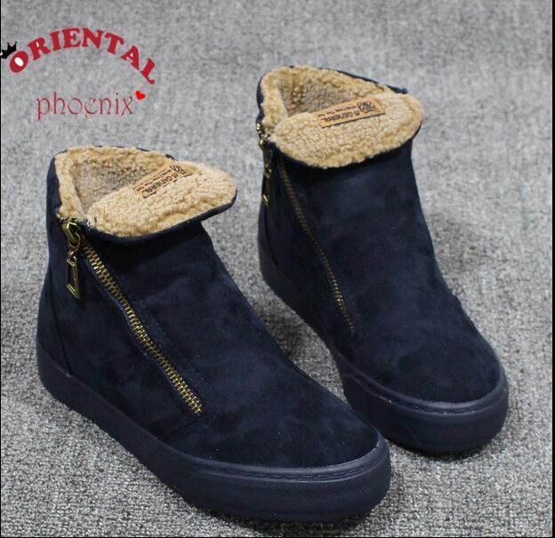 2016 Recién Llegado de All season Mujeres Denim Lienzo Moda nieve botas Zapatos de Mujer Zapatillas Deportivas tamaño 35-39