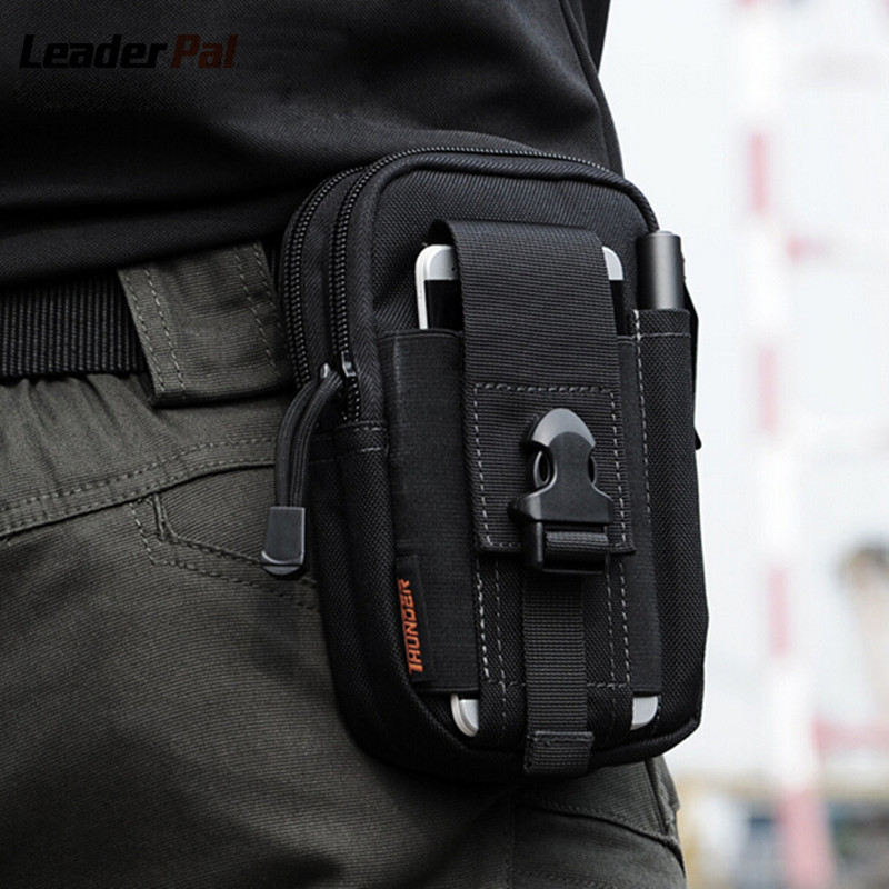 D30 Waist Bag Waterproof Waist Pack Casual Molle Military Waist Fanny Pack Mobile Phone Case for SAMSUNG Note 2 3 4 1000D Nylon