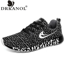 New design men shoes summer lightweight breathable air mesh casual shoes men flat shoes zapatillas zapatillas hombre size 35-44