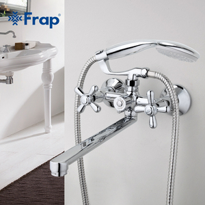 Image 2 - FRAP Traditional bathroom faucets 300mm long water outlet tube move 90 degrees left and right F2225 F2224