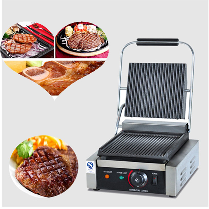 Commercial electric stainless steel panini contact grill panini griddleCommercial electric stainless steel panini contact grill panini griddle