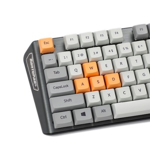 Image 4 - New Arrival XDA 87 ANSI Gray Orange Mixed Lotus Keyset Dye sub Dye Sublimation Keycap for MX Mechanical Keyboard TKL 61 Filco