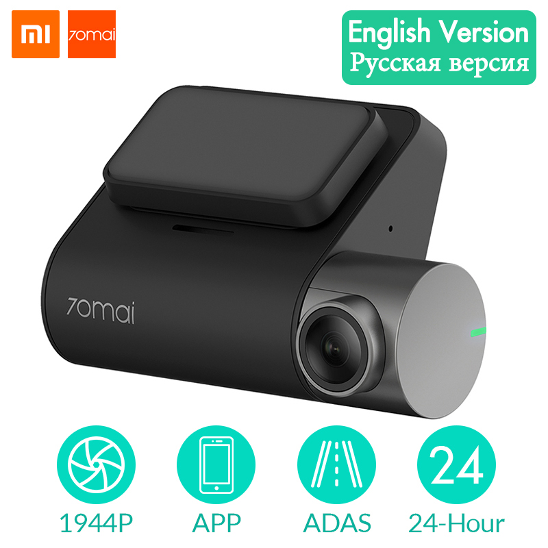 Xiaomi 70mai Dash Cam Pro 1944P GPS ADAS Car DVR WIFI Dashcam Voice Control 24H Parking