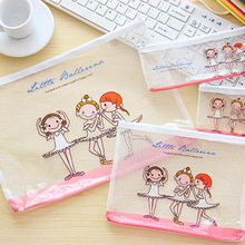 1 шт. канцелярские товары оптом Tian Ke мультфильм милые балетные девушки сетки сумки бумажные сумки