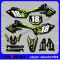 FREE SHIPPING TOP QUALITY KX250F 2004 2005 KXF250 MOTORCYCLE 3M GRAPHICS DECALS STICKERS KITS MOTOCROSS SUPERMOTARD