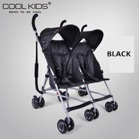 4.95kg Lightweight Twins Stroller,Aluminum Alloy Frame,Portable Double Stroller,Baby Pram, 2 Seats Children Umbrella Car