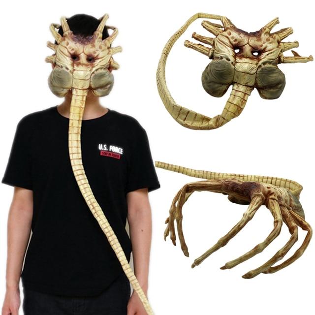 Alien Covenant Facehugger Latex Mask Halloween Cosplay Masks Props