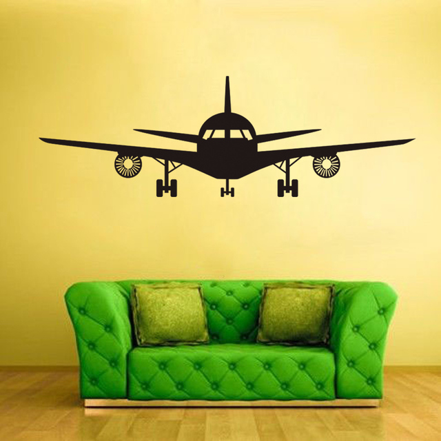 3D Airplane Muraux Wall Stickers For Kids Room Airplane Vinyl ...