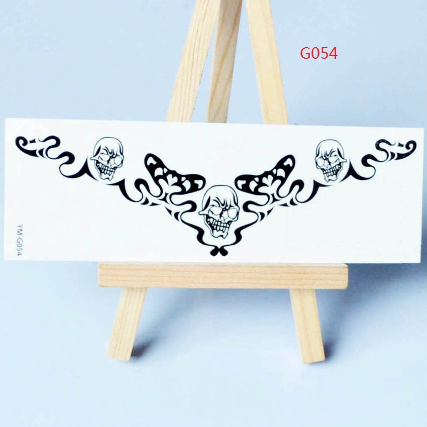 Small Black Tattoos Waterproof Temporary Tattoo Stickers Men And Women Butterfly Henna Tatoo Stickers Arm Wrist 051-056
