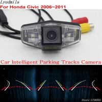 Lyudmila Car Intelligent Parking Tracks Camera FOR Honda Civic 2006~2011 HD Car Back up Reverse Camera / Rear View Camera