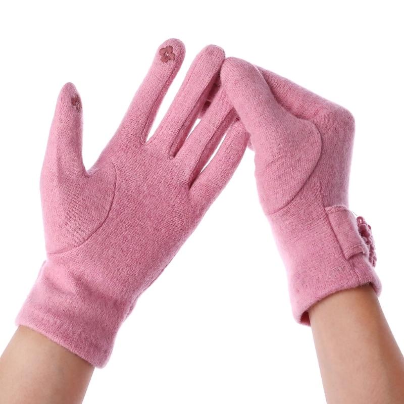 New Autumn Winter Fashion Women Ladies Cashmere Gloves Female Wool Mitten Gloves