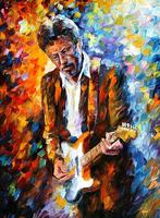 Hand Painted Oil Painting On Canvas Eric Clapton Portrait Abstract Palette Knife Painting Living Room Wall Decor Artwork Fine