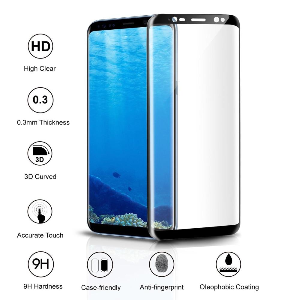 Akcoo New 3D Curved Full Cover Tempered Glass Screen Protector for - Ανταλλακτικά και αξεσουάρ κινητών τηλεφώνων - Φωτογραφία 2