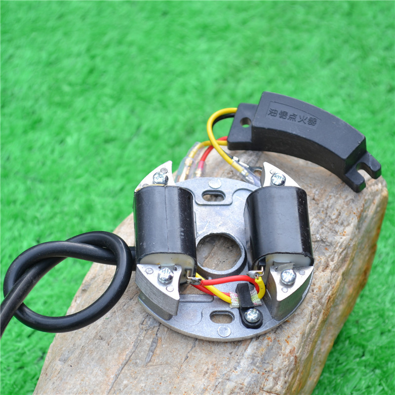 YD78 IGNITION MODULE COIL W/ CAPACITOR FOR CHAINSAW 78 7800 YD81 78CC 2 STROKE CHAIN SAW IGNITOR CONDENSER MAGNETO STATOR