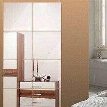 unidsset nueva d espejo cuadrado de mosaico de azulejo de la pared pegatinas