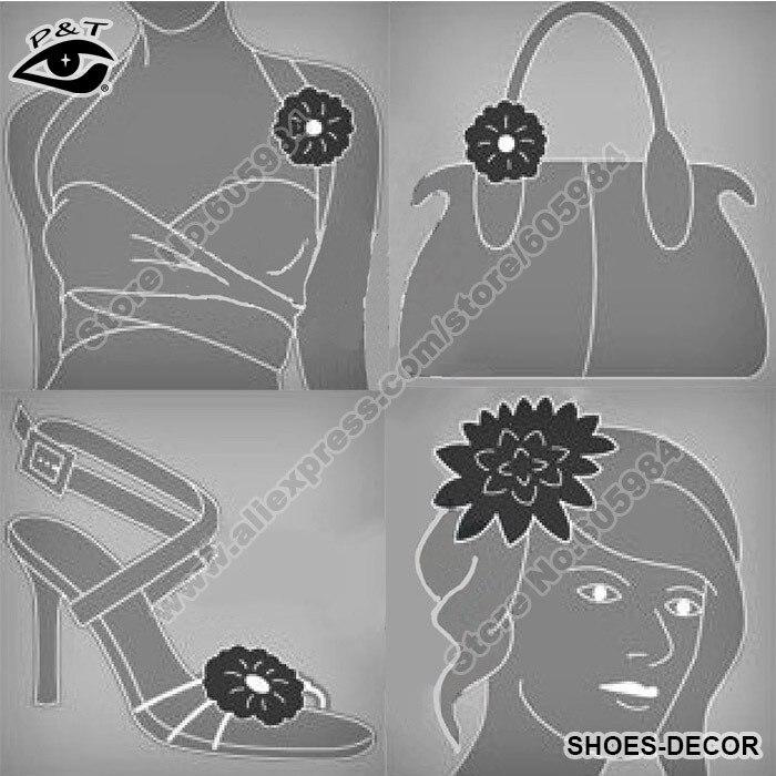 Fashion ladys gold fabric bow clip on rhinestones shoe decoration shoes decor junglespirit Image collections
